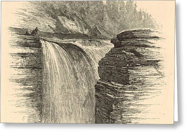 Sherman Fall Greeting Card by Antique Engravings