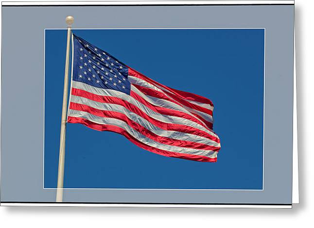 Partriotic Greeting Cards - Shes a Grand Old Flag Greeting Card by Floyd Hopper