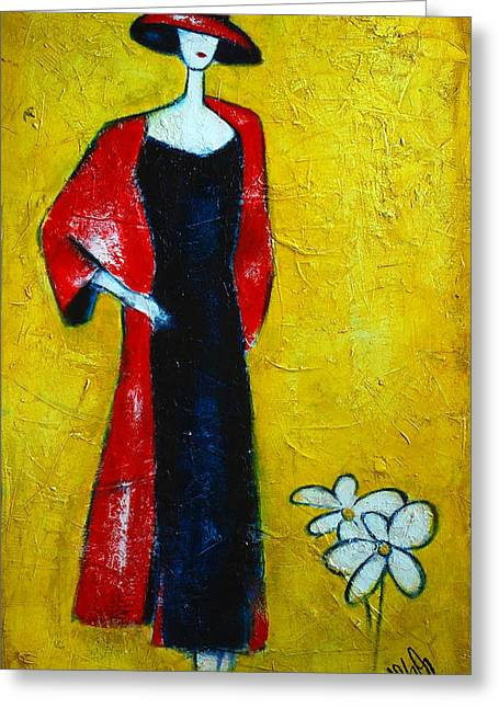 Did You See That Greeting Cards - Shes a lady Greeting Card by Nebojsa Jovanovic NESAART
