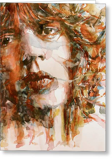 Singer Paintings Greeting Cards - Shes A Rainbow Greeting Card by Paul Lovering