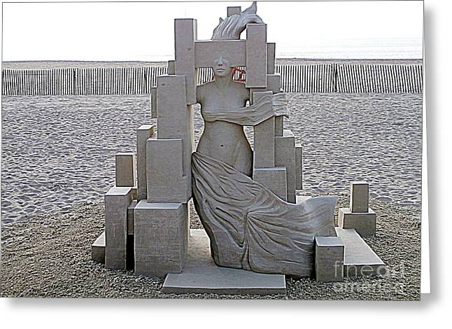 Sand Castles Greeting Cards - Shes Come Undone Greeting Card by Eunice Miller