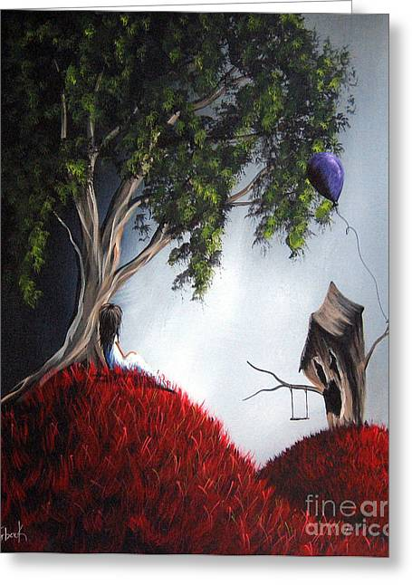 Fairies Greeting Cards - Shes Just An Illusion by Shawna Erback Greeting Card by Shawna Erback