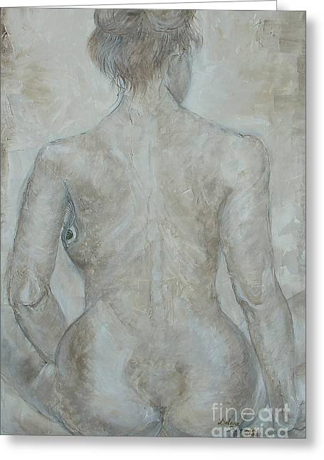 Posters Of Nudes Paintings Greeting Cards - Shes the one Greeting Card by Delona Seserman