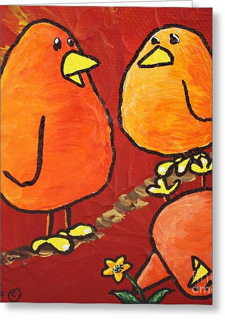 She's Yours Greeting Card by LimbBirds Whimsical Birds