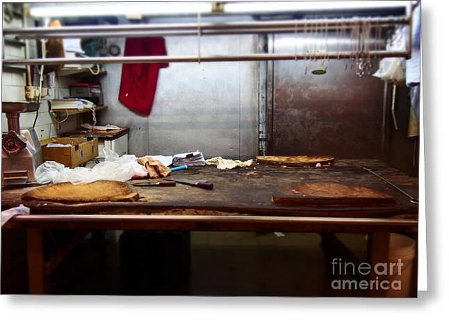 Meat Hook Greeting Cards - Sheung Wan market Greeting Card by LoveDutchArt By Ebs