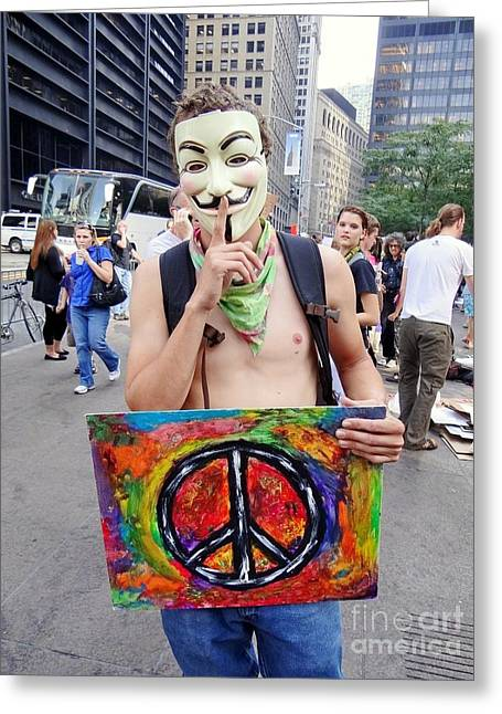 Occupy Greeting Cards - Shhh Greeting Card by Ed Weidman