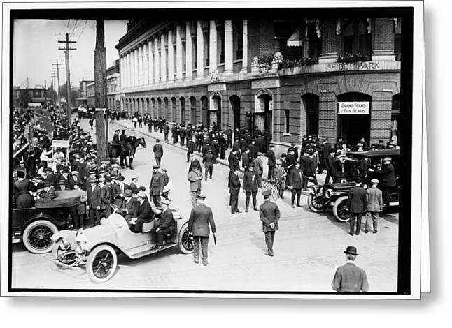 Shibe Greeting Cards - Shibe Park 1914 Greeting Card by Bill Cannon