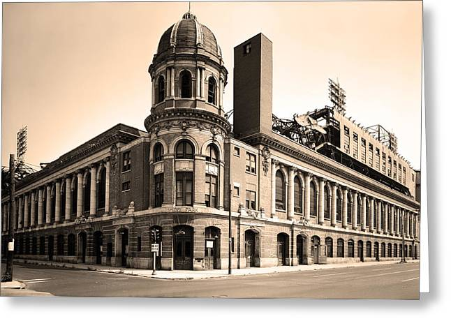 Philadelphia Phillies Stadium Digital Greeting Cards - Shibe Park  Greeting Card by Bill Cannon