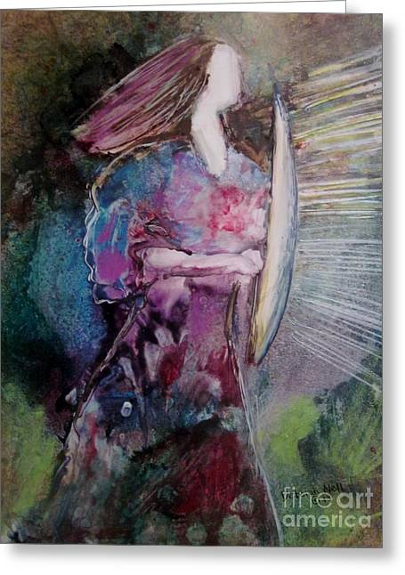 Warrior Bride Greeting Cards - Shield Of Faith Greeting Card by Deborah Nell