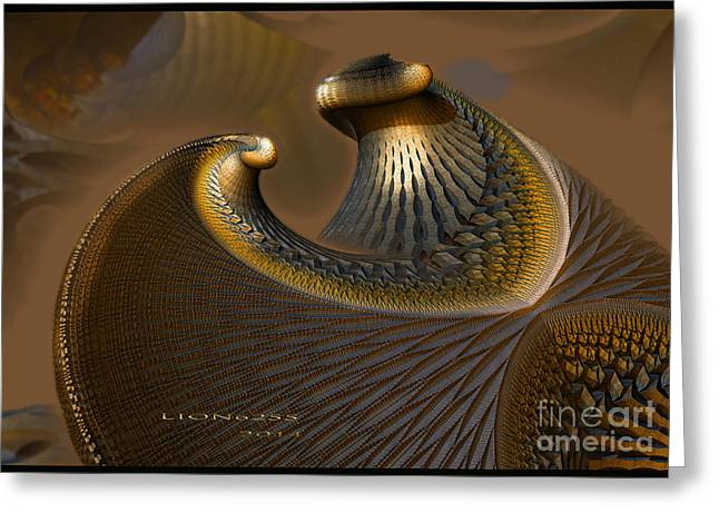 Algorithmic Greeting Cards - Shield Of War Greeting Card by Melissa Messick