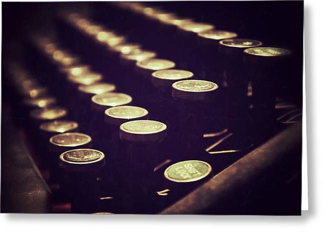 Typewriter Keys Greeting Cards - Shift Lock Greeting Card by Brandon Addis