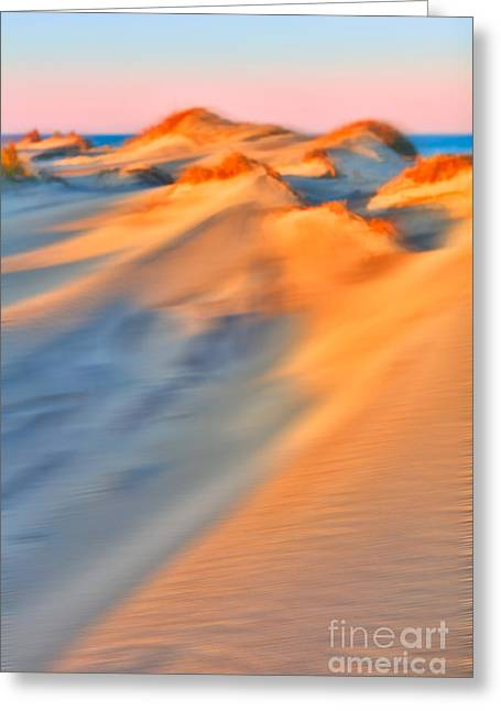 Surreal Landscape Greeting Cards - Shifting Sands - a Tranquil Moments Landscape Greeting Card by Dan Carmichael
