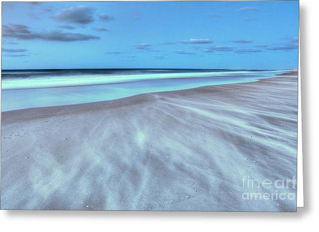 Frisco Pier Greeting Cards - Shifting Sands on Frisco Beach Outer Banks I Greeting Card by Dan Carmichael