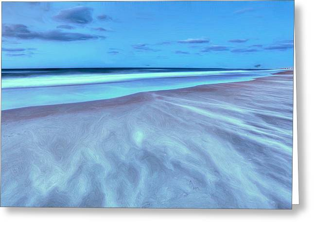 Frisco Pier Greeting Cards - Shifting Sands on Frisco Beach Outer Banks II Greeting Card by Dan Carmichael