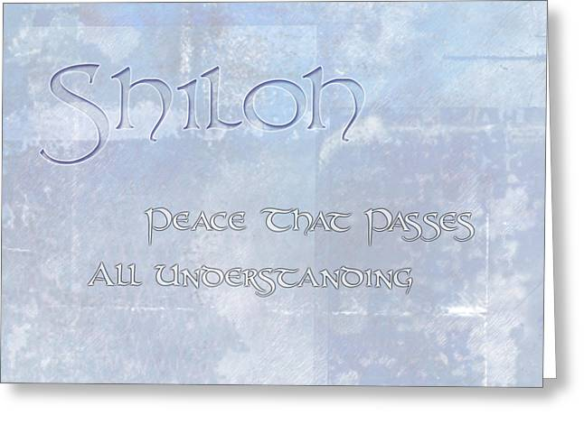 Spotless Greeting Cards - Shiloh - Peace that Passes Understanding. Greeting Card by Christopher Gaston