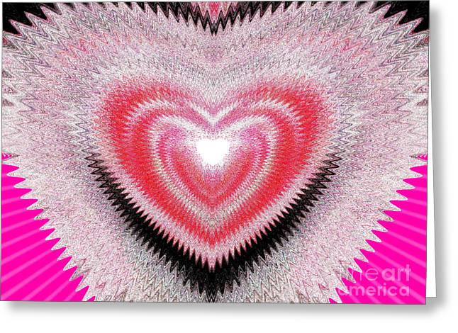 Women Only Greeting Cards - Shimmer Heart Greeting Card by Irfan Gillani