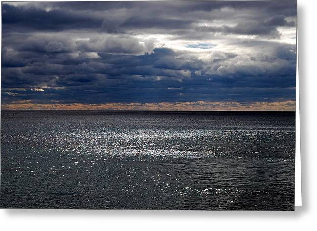 Maine Beach Greeting Cards - Shimmer Greeting Card by Mim White