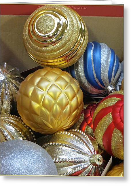 Acrylicprint Greeting Cards - Shimmering Bauble Greeting Card by Sonali Gangane