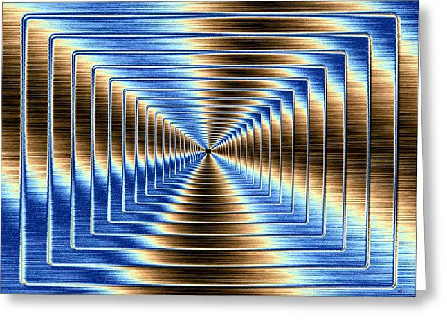 Intrigue Greeting Cards - Shimmering Steel 3 Greeting Card by Will Borden
