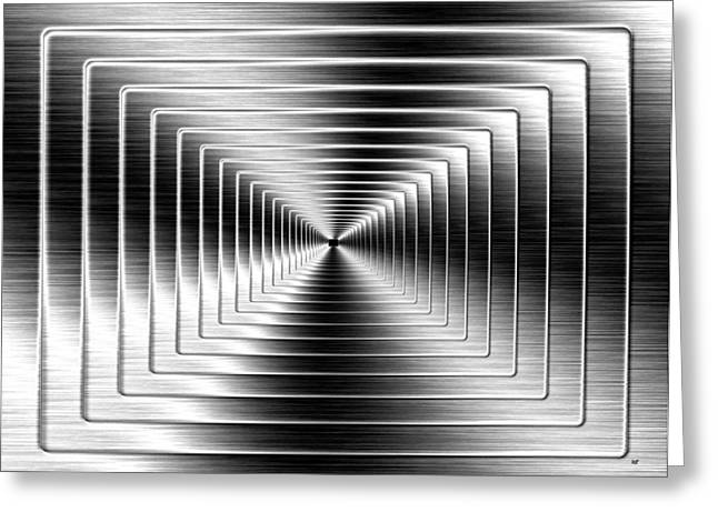 Exhilarate Greeting Cards - Shimmering Steel Greeting Card by Will Borden