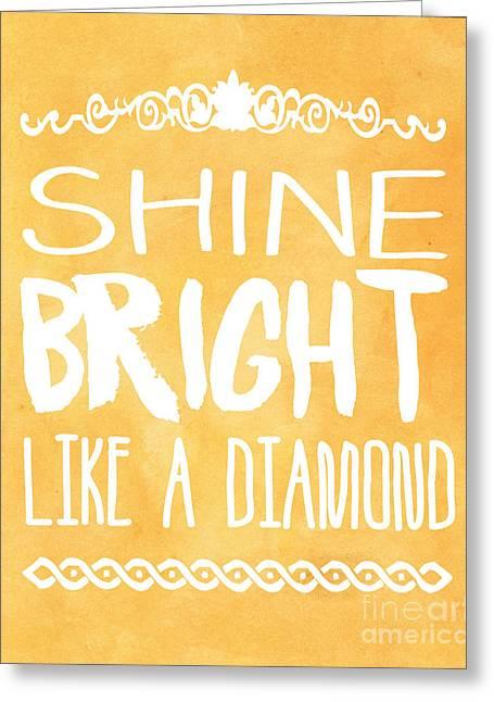 Shine Bright Orange Greeting Card by Pati Photography