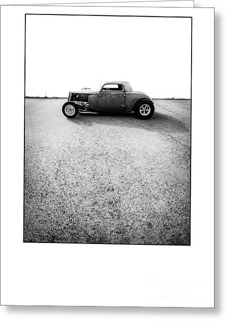 Custom Roadster Greeting Cards - Shine - Metal And Speed Greeting Card by Holly Martin