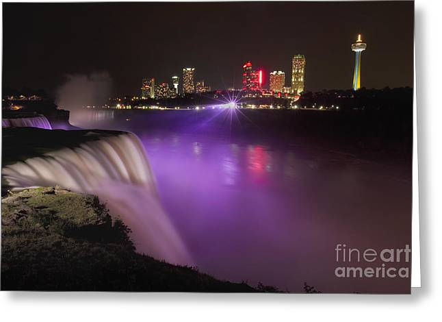 Niagara Falls Greeting Cards - Shine On Brightly Greeting Card by Evelina Kremsdorf