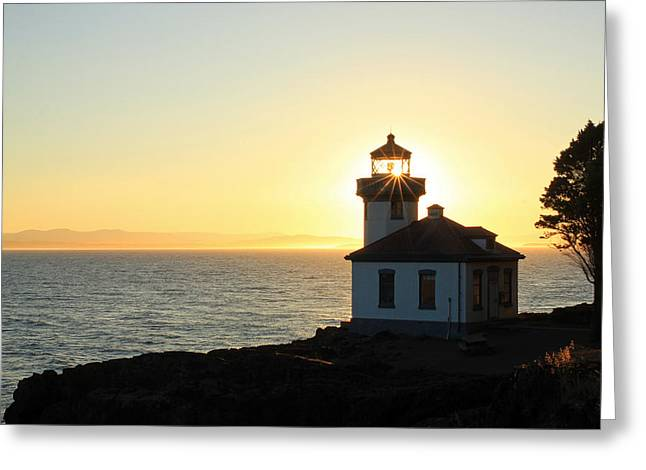 Historical Lighthouse Greeting Cards - Shine On Greeting Card by Johnny Adolphson