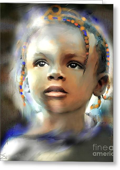 Head Digital Art Greeting Cards - Shine On Me Greeting Card by Bob Salo