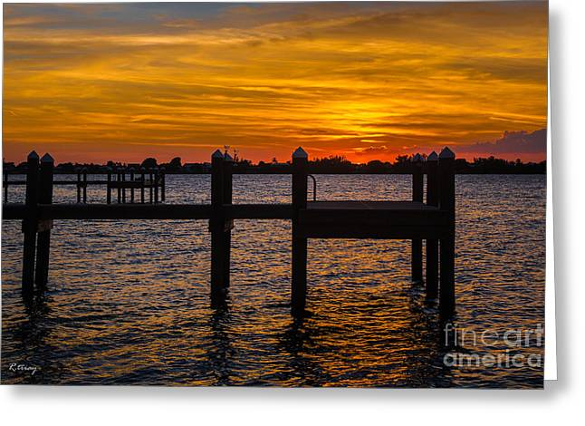 Isla Morada Greeting Cards - Shine On Liquid Gold Greeting Card by Rene Triay Photography
