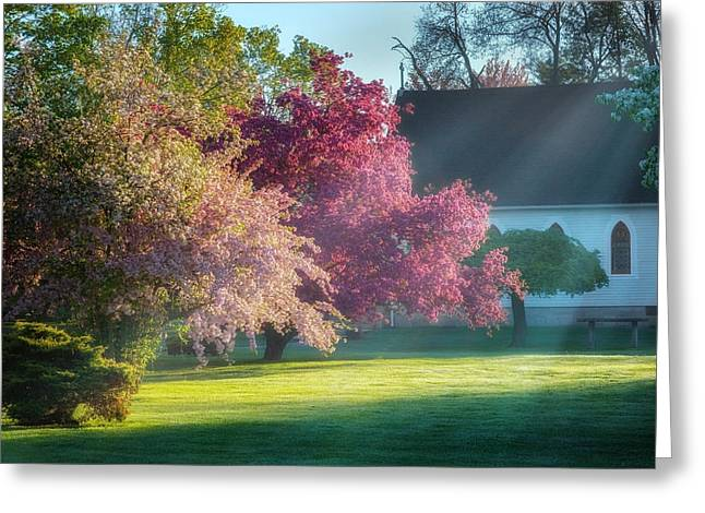 Light Rays Greeting Cards - Shine The Light On Me Greeting Card by Bill  Wakeley