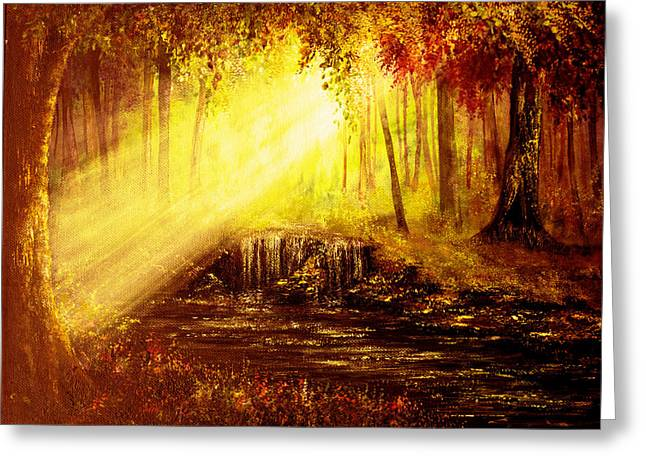 Kinkade Greeting Cards - Shine Your Light Greeting Card by Ann Marie Bone