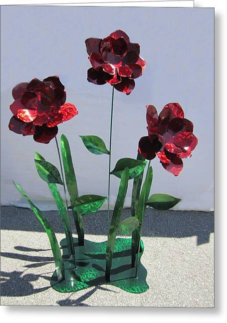 Floral Sculptures Greeting Cards - Shine Your Light On Me Greeting Card by Diane Snider