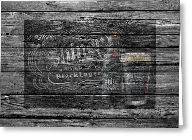 Saloons Greeting Cards - Shiner Black Lager Greeting Card by Joe Hamilton