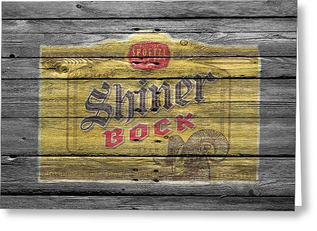 Hops Greeting Cards - Shiner Bock Greeting Card by Joe Hamilton