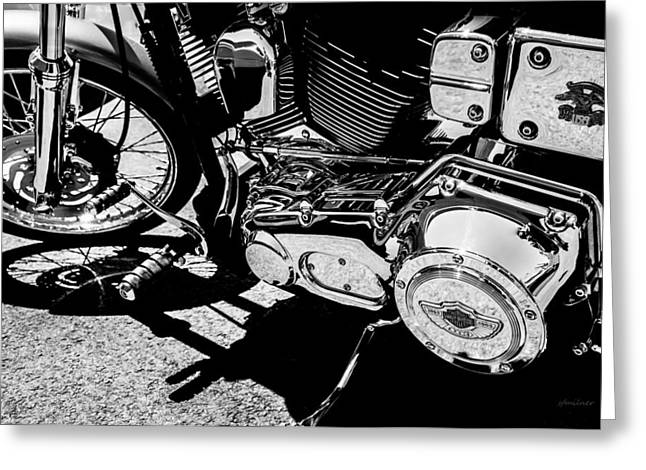 Road Travel Greeting Cards - Shines On - 100th Anniversary Harley Davidson Greeting Card by Steven Milner