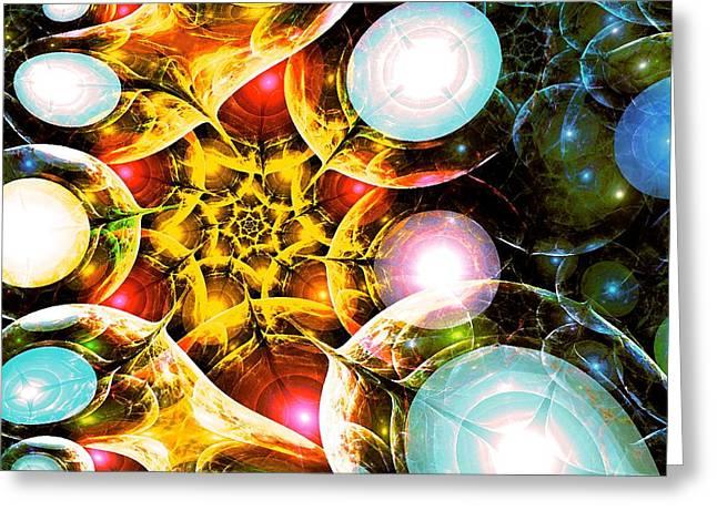 Shining Colors Greeting Card by Anastasiya Malakhova