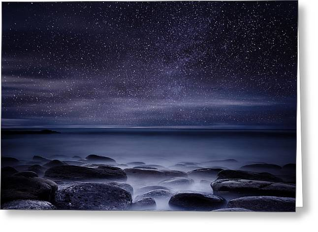 Ocean Moods Greeting Cards - Shining in darkness Greeting Card by Jorge Maia