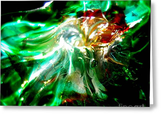 Recently Sold -  - Close Up Glass Greeting Cards - Shining Through the Glass II Greeting Card by Kitrina Arbuckle