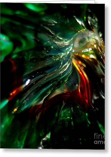 Recently Sold -  - Close Up Glass Greeting Cards - Shining Through the Glass Greeting Card by Kitrina Arbuckle