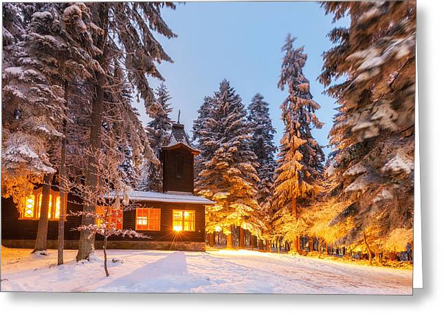 Orthodox Photographs Greeting Cards - Shininng Church Greeting Card by Evgeni Dinev
