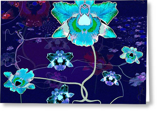Shiny Flowers Of Fantasy  - 620 Greeting Card by Irmgard Schoendorf Welch