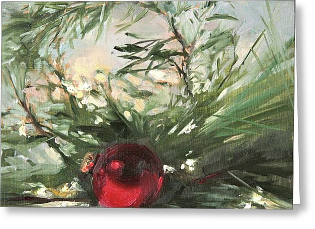 Pine Needles Paintings Greeting Cards - Shiny Greeting Card by Jacki Newell