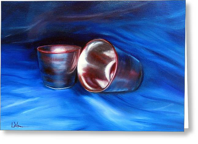 Lavonne Hand Greeting Cards - Shiny Metal Cups Study Greeting Card by LaVonne Hand