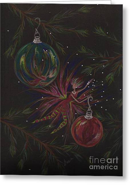 Pine Needles Drawings Greeting Cards - Shiny Objects Greeting Card by Dawn Fairies
