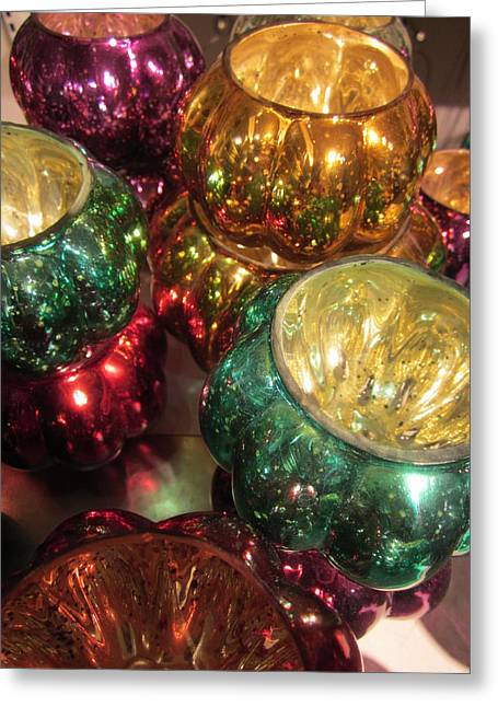 Candleholder Greeting Cards - Shiny Greeting Card by Rosita Larsson
