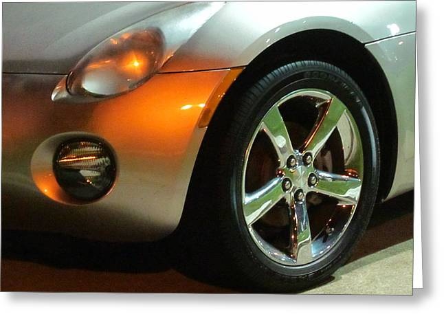 Guy Ricketts Photography And Art Greeting Cards - Shiny Silver Car Greeting Card by Guy Ricketts