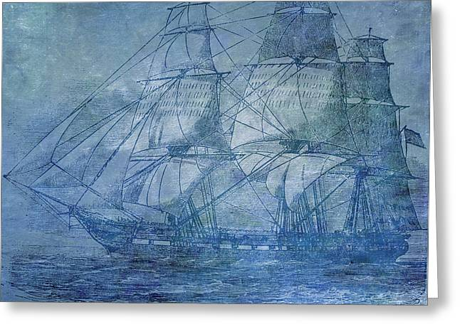 Water Vessels Mixed Media Greeting Cards - Ship 2 Greeting Card by Angelina Vick
