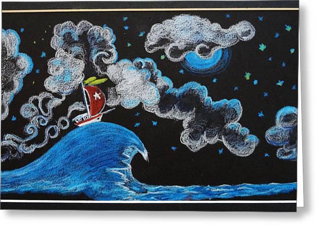 Smooth Ride Greeting Cards - Ship Big Wave Greeting Card by Joseph Hawkins