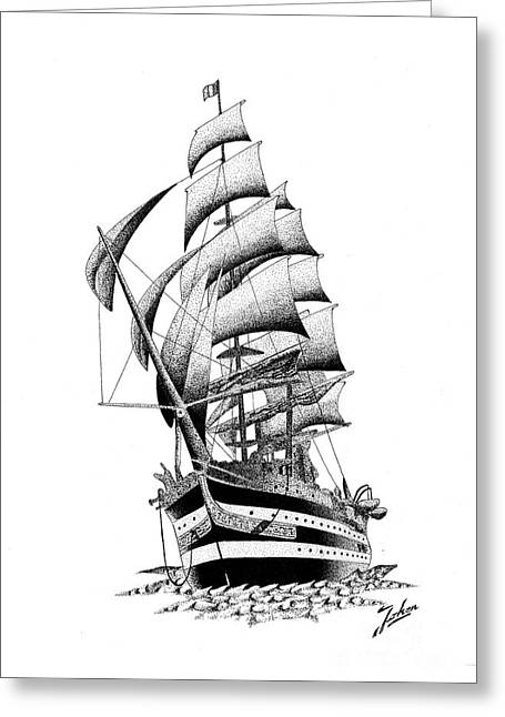 Valuable Greeting Cards - Ship Greeting Card by Joker  Gallery